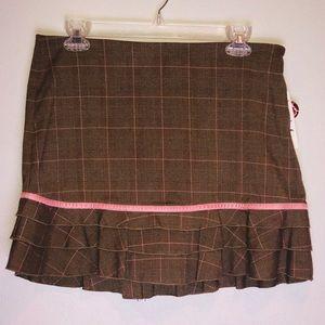 Brown Speechless School Girl Skirt
